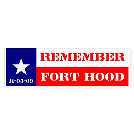Bumper Sticker - Remember Fort Hood