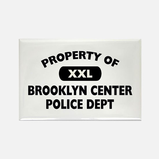 Property of Brooklyn Center PD Rectangle Magnet