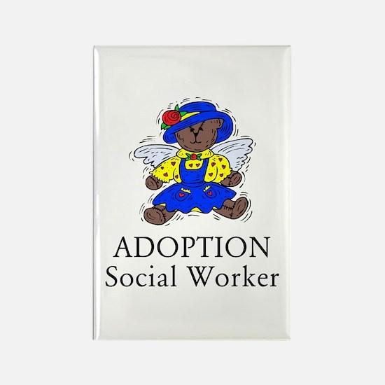 Adoption SW Bear Angel Rectangle Magnet