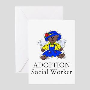Adoption SW Bear Angel Greeting Card