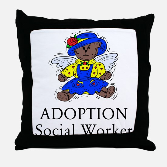 Adoption SW Bear Angel Throw Pillow