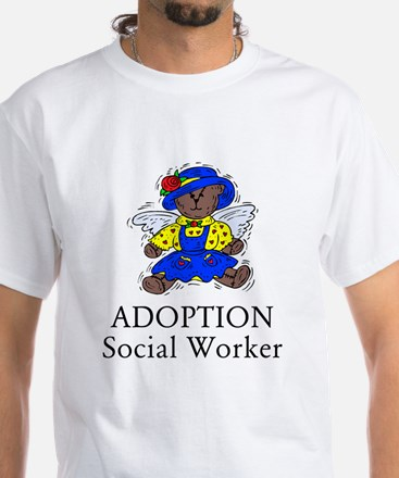 Adoption SW Bear Angel White T-Shirt
