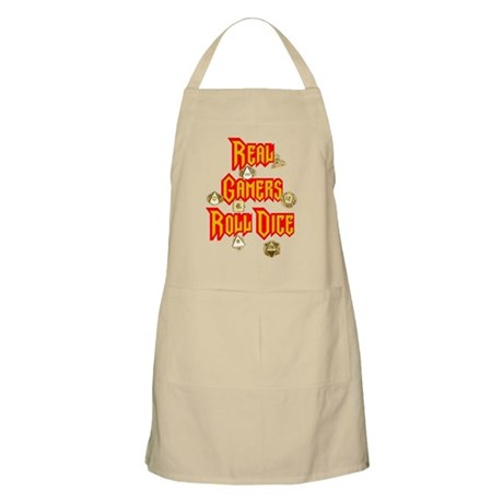 Real Gamers Roll Dice Apron