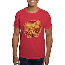 Don't Stop Believing in Santa Dark T-Shirt