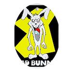 Bad Bunny Oval Ornament