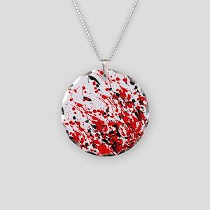 Drip & Splash Necklace Circle Charm