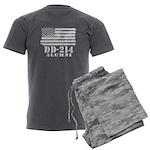DD 214 Alumni Men's Charcoal Pajamas