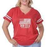 DD 214 Alumni Women's Plus Size Football T-Shirt