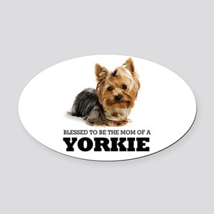 Blessed YORKIE MOM Oval Car Magnet