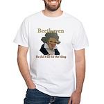 Beethoven Bling White T-Shirt