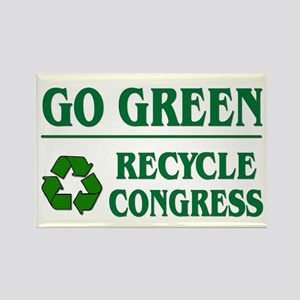 Go Green Recycle Congress - Rectangle Magnet