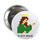 "8 Bit Jesus 2.25"" Button"