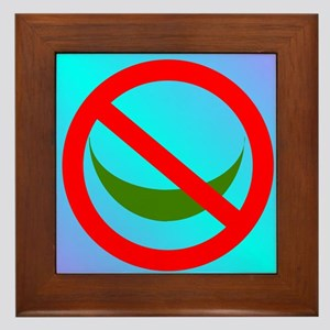 NO ISLAM! Framed Tile