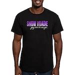 Snow Roadie Men's Fitted T-Shirt (dark)