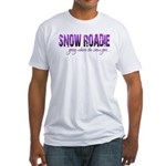 Snow Roadie Fitted T-Shirt