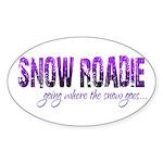 Snow Roadie Oval Sticker