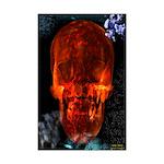 Bright Red Skull Mini Poster Print