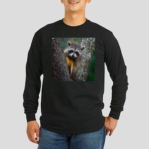 Baby Raccoon Long Sleeve Dark T-Shirt