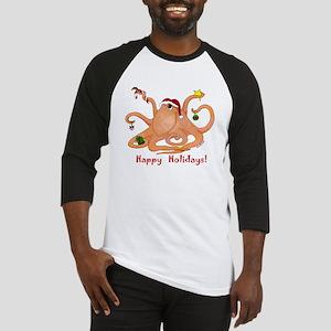 Christmas Octopus Baseball Jersey