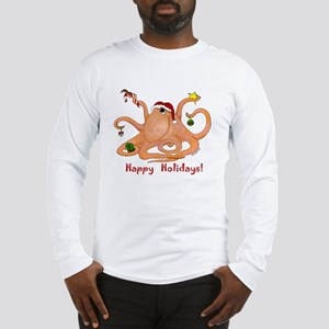 Christmas Octopus Long Sleeve T-Shirt