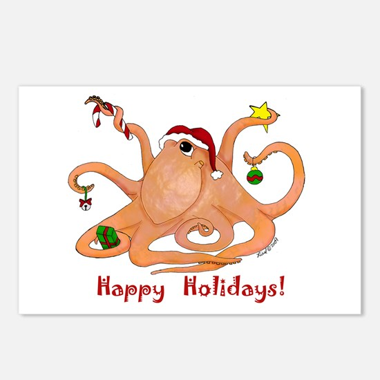 Christmas Octopus Postcards (Package of 8)