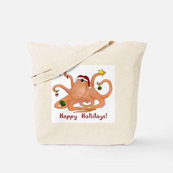 Christmas Octopus Tote Bag