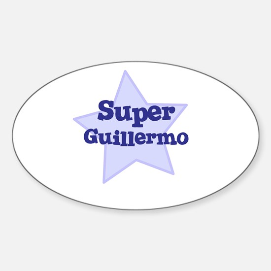 Super Guillermo Oval Decal