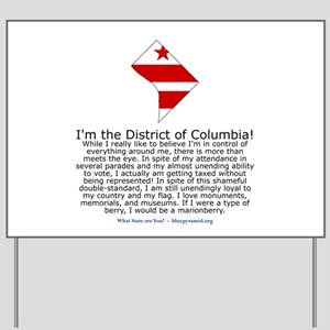 District of Columbia Yard Sign