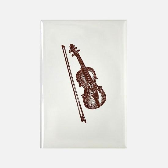 Cute Violin kids Rectangle Magnet