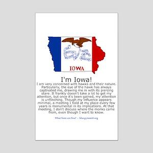 Iowa Mini Poster Print