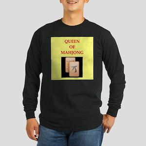 mahjong players Long Sleeve Dark T-Shirt