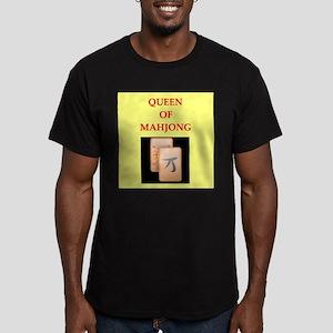 mahjong players Men's Fitted T-Shirt (dark)