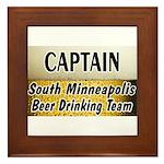 South Minneapolis Beer Drinking Team Framed Tile