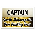 South Minneapolis Beer Drinking Team Large Poster