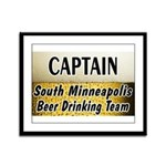 South Minneapolis Beer Drinking Team Framed Panel