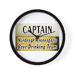 Nordeast Minneapolis Beer Drinking Team Wall Clock