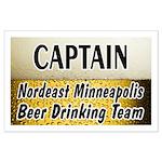 Nordeast Minneapolis Beer Drinking Team Large Post