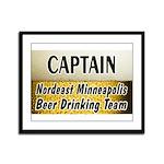 Nordeast Minneapolis Beer Drinking Team Framed Pan