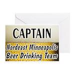 Nordeast Minneapolis Beer Drinking Team Greeting C