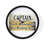 North Minneapolis Beer Drinking Team Wall Clock