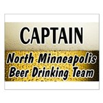 North Minneapolis Beer Drinking Team Small Poster