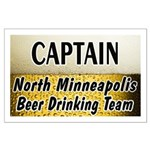 North Minneapolis Beer Drinking Team Large Poster