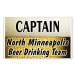 North Minneapolis Beer Drinking Team Sticker (Rect