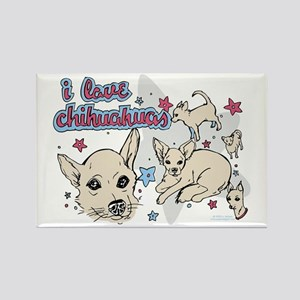 """I Love Chihuahuas"" Rectangle Magnet"