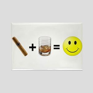 Cigar & Bourbon Rectangle Magnet
