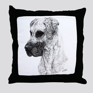 N Fawn GD in dots Throw Pillow