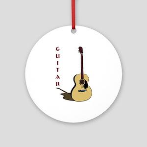 Guitar Ornament (Round)
