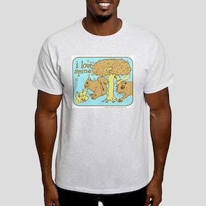 """""""I Love Squirrels"""" Ash Grey T-Shirt"""