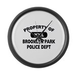 Property of Brooklyn Park Police Large Wall Clock