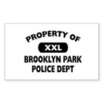 Property of Brooklyn Park Police Sticker (Rectangl